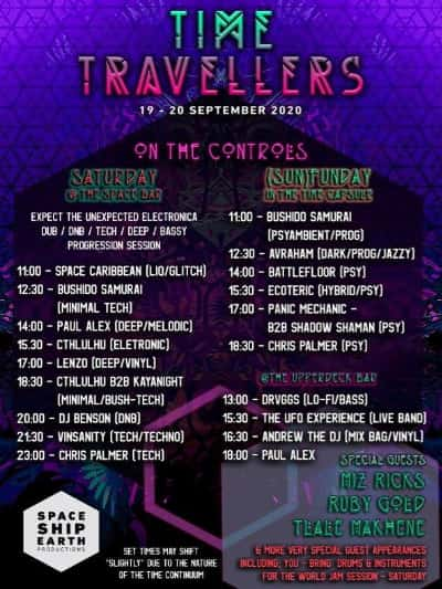 Time Travellers 19-20 Sept